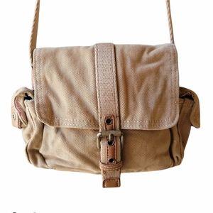 Fossil Vintage Brown Tan Cargo Crossbody Bag